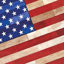 Old Glory July 4th USA American Flag Patriotic Party Paper Luncheon Napkins - $13.66