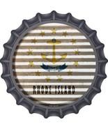 Rhode Island Flag Corrugated Effect Novelty Metal Bottle Cap - $21.95