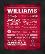 "Anaheim Angels ""Family Cheer"" 13 x 16 Framed Print - $39.95"