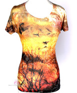 Womens Wild Animal Lion of Judah Short Sleeve Multi Color Warm Tone Cool... - $24.50