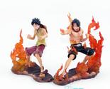 Anime Cartoon One Piece  Luffy VS Ace PVC Action Figure 14cm 2pcs/set
