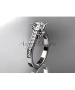 Enagagement ring,14kt white gold diamond unique engagement ring,wedding ... - $1,305.00