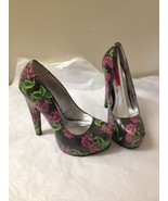 Womens Rose Print Betsey Johnson Heels Size 6.5 New - $59.39