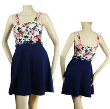 Flower Print, A Line Skirt,Casual DRESS w/ Belt,Pad Bra Stretchy Junior ... - €21,93 EUR