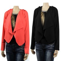 Long Sleeve Crop Open Layering BLAZER Lining,Wide Collar Casual CARDIGAN... - $24.99