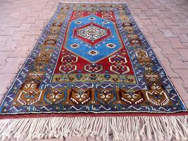 4'x7' Horseshoe Desings Fabulous Turkish Carpet,Never Used,Pure Wool Nom... - $658.35