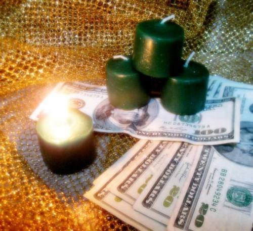 Primary image for Voodoo IGNITE MONEY & WEALTH ATTRACTION GOOD LUCK SPELL CAST Handmade Candle