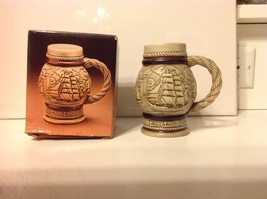 Vintage Collectible Nautical Stein Small AVON Tall Ships 1982 BEER STEIN... - $7.91