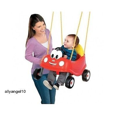 Baby Swing Little Tikes First Infant Toddler Porch Swings Coupe Car Outdoor Play
