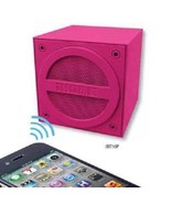 iHOME Bluetooth Rechargeable Mini Cube Speaker-Pink**Rare/Cool Gift! - $39.99