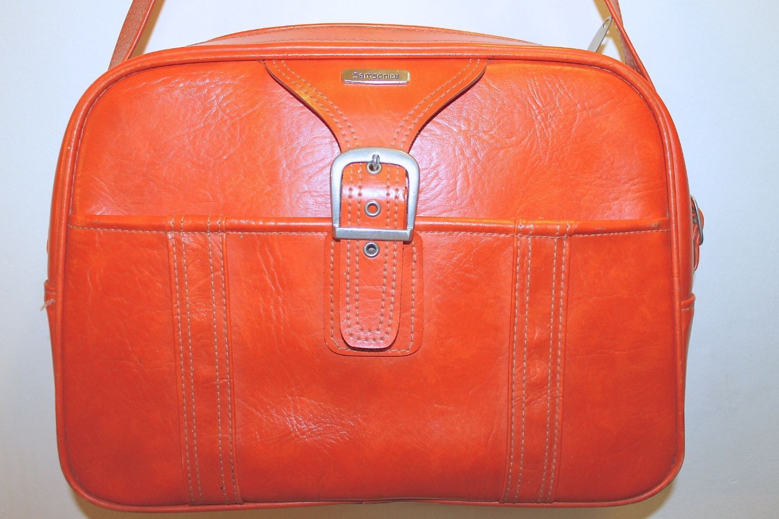Vintage SAMSONITE Suitcase Carryon/ Overnight  Bag, Orange