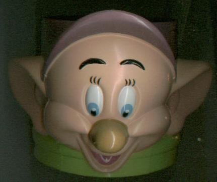Walt Disney DOPEY cup / Marx toy / book + Snow White Seven Dwarfs 7 dwarves