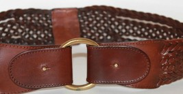 Hot Pennyblack Made in Italy Braided Brown Leather Belt Size M - €15,61 EUR