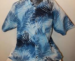 Bill Blass Men's Summer Hawaiian Blue Shirt XL - $16.84