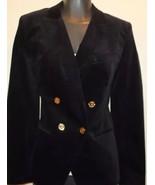 NWT Michael Kors Black Velvet Fitted Double Breasted Women's Blazer Size 2 - $62.32
