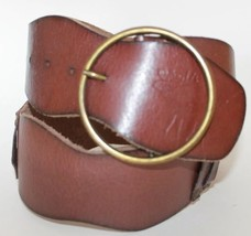 Hollister Cowboy With Brass Buckle Women's Leather Belt Size S - $18.49