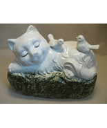 Ceramic Figurine Statue Door Welcome Cat Kitte... - $15.95