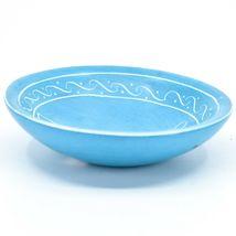 Vaneal Group Hand Carved Kisii Soapstone Blue Giraffe Trinket Bowl Dish Kenya image 3