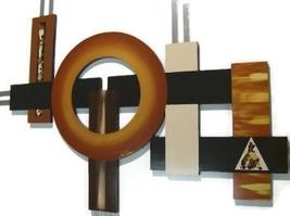 Stylish Contemporary Modern Geometric Abstract Art Wall Sculpture 4'x3' - $239.99