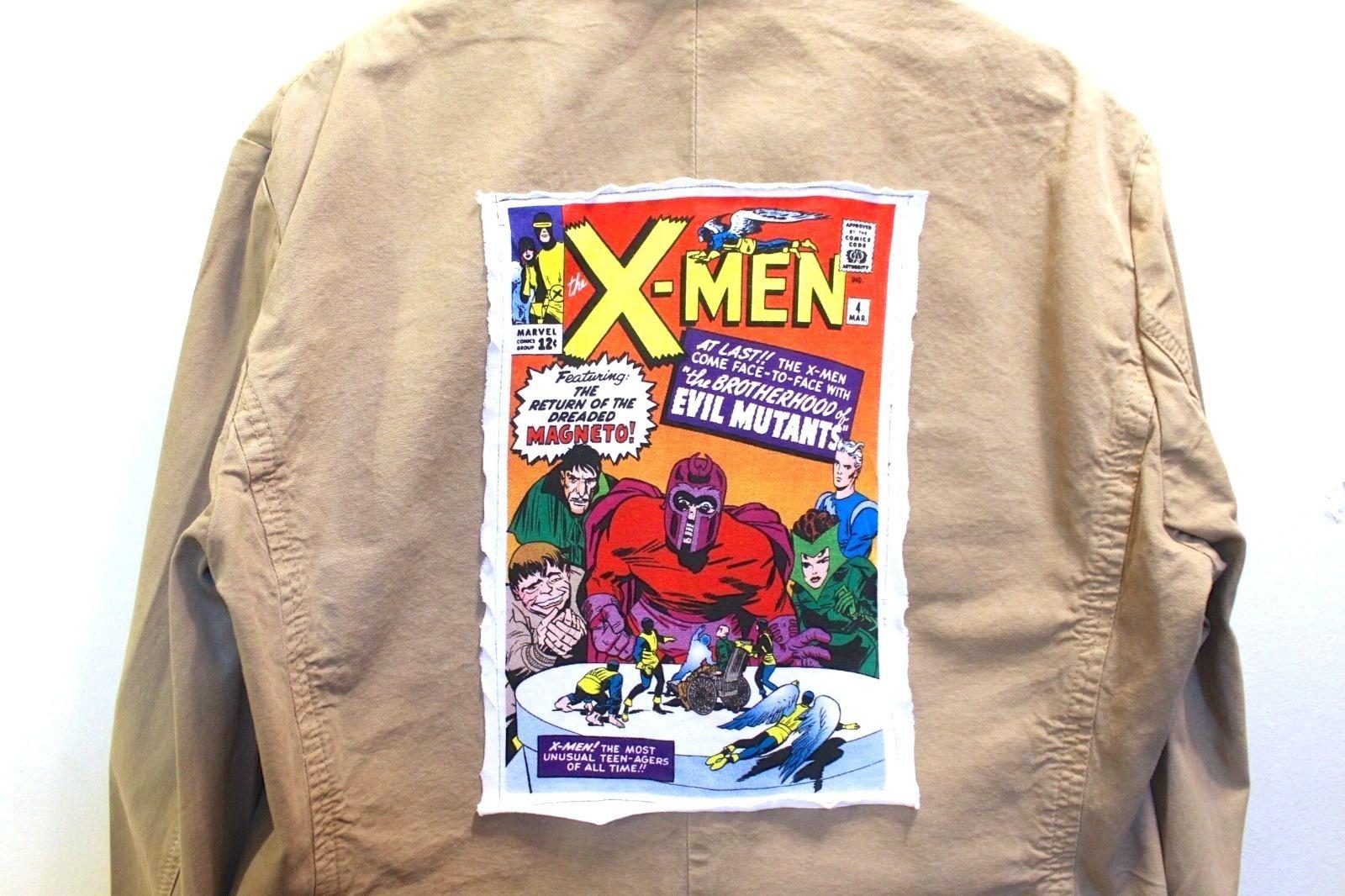 ZARA Men's Khaki Blazer- X-MEN Print