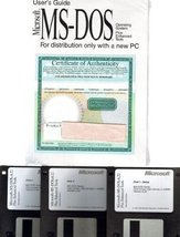 """Microsoft MS-DOS 6.22 Operating System on 3.5"""" Floppy Disc & User's Guide [CD... - $79.19"""