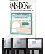 """Microsoft MS-DOS 6.22 Operating System on 3.5"""" Floppy Disc & User's Guid... - $79.19"""