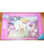 PUZZLE RIDING IN THE WOODS 100 PIECE XXL PUZZLES 2009 RAVENSBURGER COMPL... - $12.00