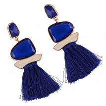 Women Unique Tassel Rhinestone Alloy Earrings Long Fringe Drop Dangle Ea... - $3.45+
