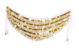 Golden Coins Belly Dance Hip Scarf Dance Belt - $21.94
