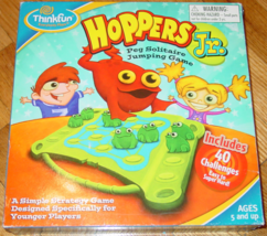 Hoppers Jr Peg Solitaire Jumping Game 2008 Thinkfun Excellent Sealed - $15.00