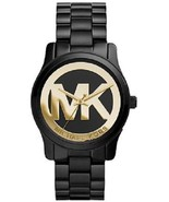 Michael Kors Women's Runway Black Ion Plated Stainless Steel 34mm Watch MK6057 - $129.90