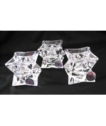 St George Crystal Candlesticks Set of 3 America... - $20.00