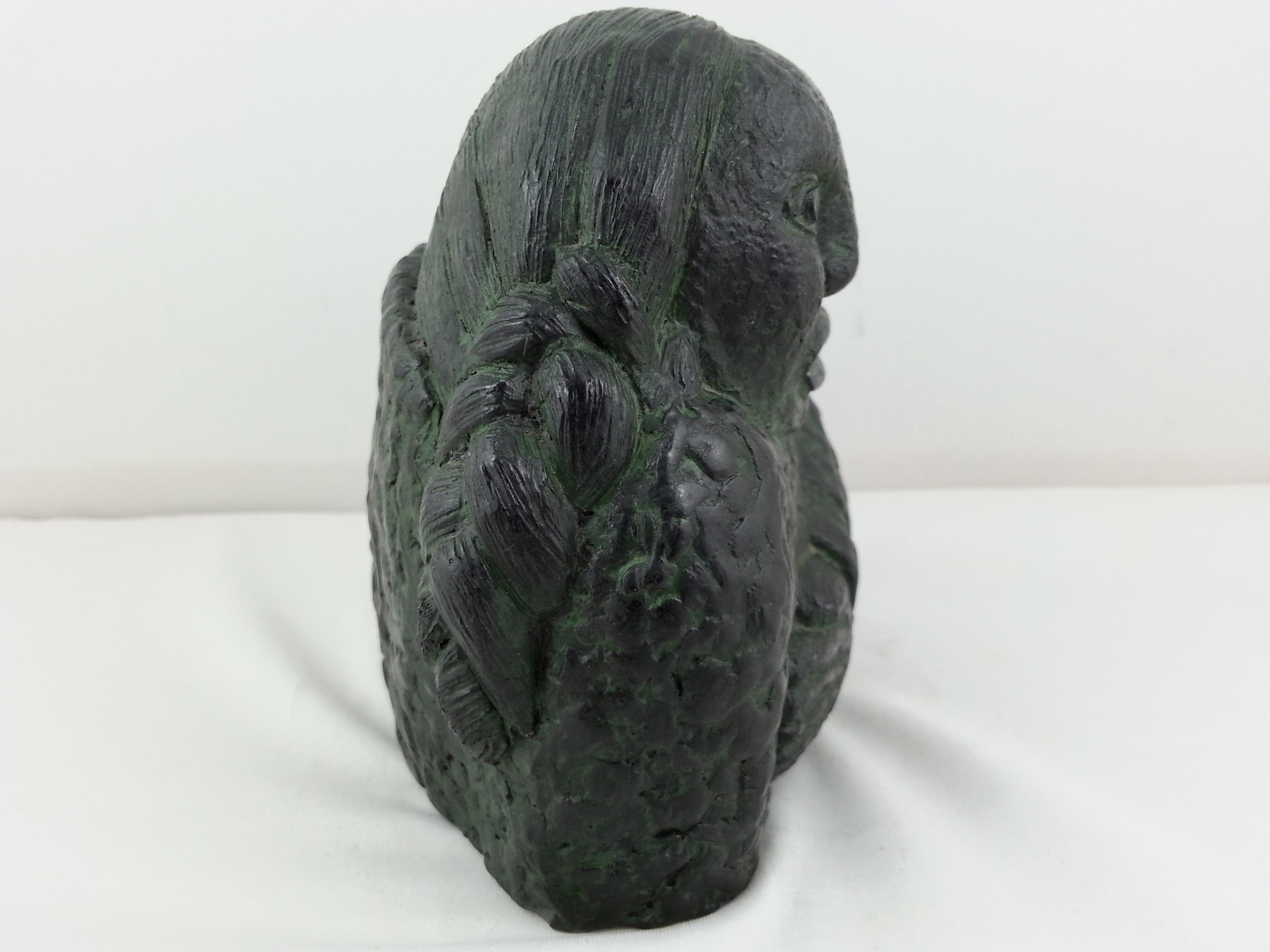 Innuit Woman Bust Scuplture - Hand Crafted from Stone- By Wolf Sculptures
