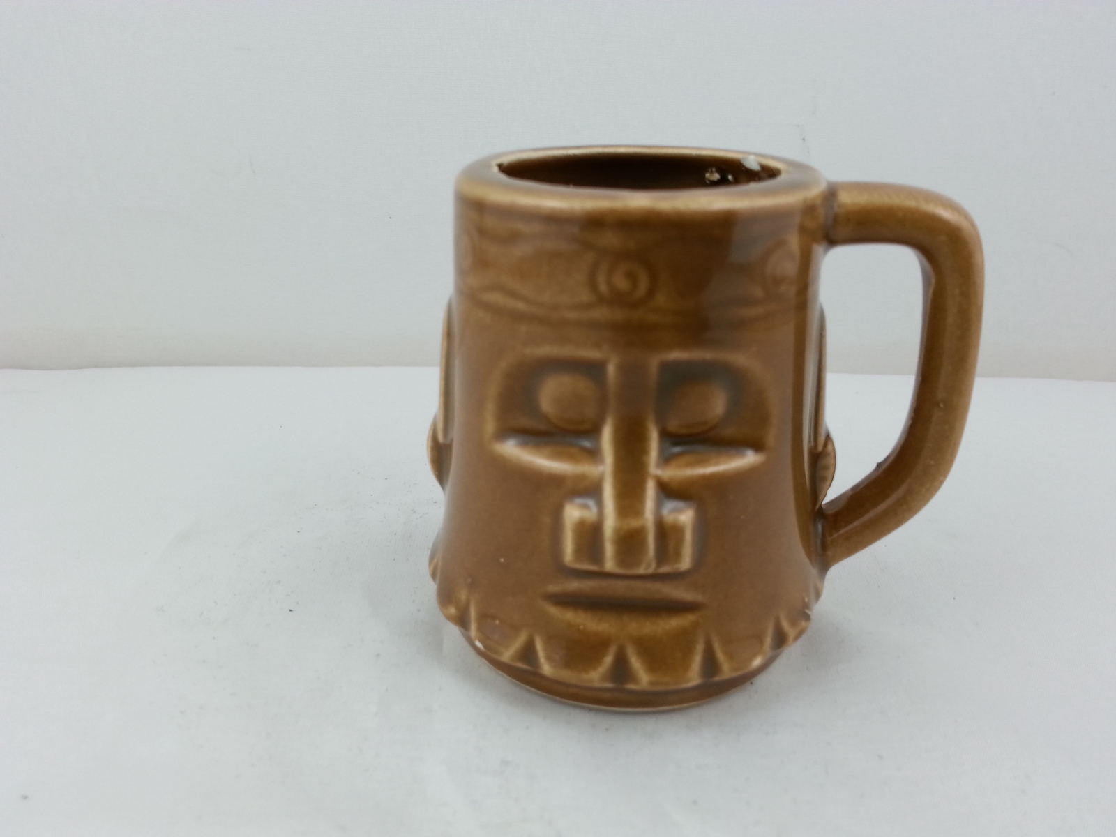 Primary image for Cool Tiki Shot Glass - Very Good Detail - Maker Unknown