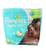 Baby Pampers Diapers Size 5 Disposable 12 Hours Dry 24 Count ~ Free Ship... - $14.50