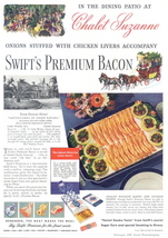1941 Swift's Premium Bacon Chalet Suzanne print ad - $10.00