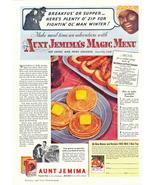 1936 Aunt Jemima Magic Menu Hot Cakes Sausage print ad - $10.00