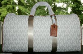 BNWT-Michael Kors Signature Pvc Logo Duffle Weekender Bag Extra Large $548 - $256.41