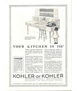 1924 Kohler Kitchen Sink baby girl art print ad - $10.00