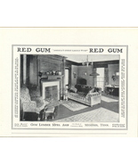1918 Red Gum Cabinet Wood Half Page print ad - $10.00