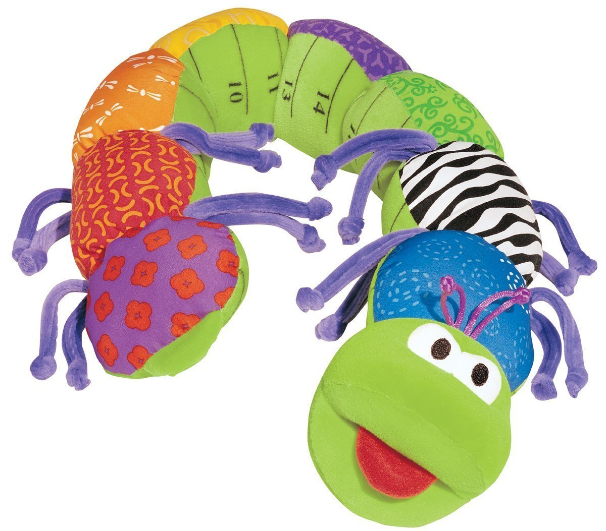 lamaze inchworm plush green caterpillar inch and 6 similar items