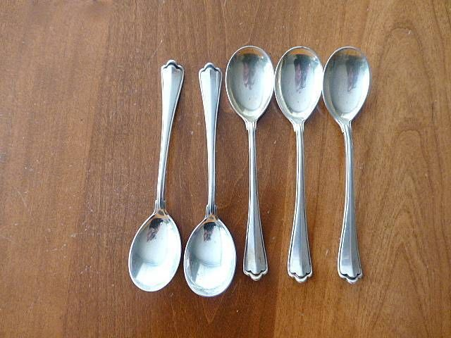 Primary image for 5 WILKENS & SOHNE Art Deco 800 Silver Starbucks Coffee Spoons Germany 5""