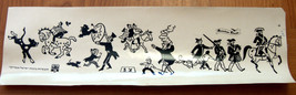 Vintage 1960's Comic Images Israel IDF Stickers American Decals Page Circus Rare image 1