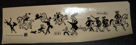 Vintage 1960's Comic Images Israel IDF Stickers American Decals Page Circus Rare image 2