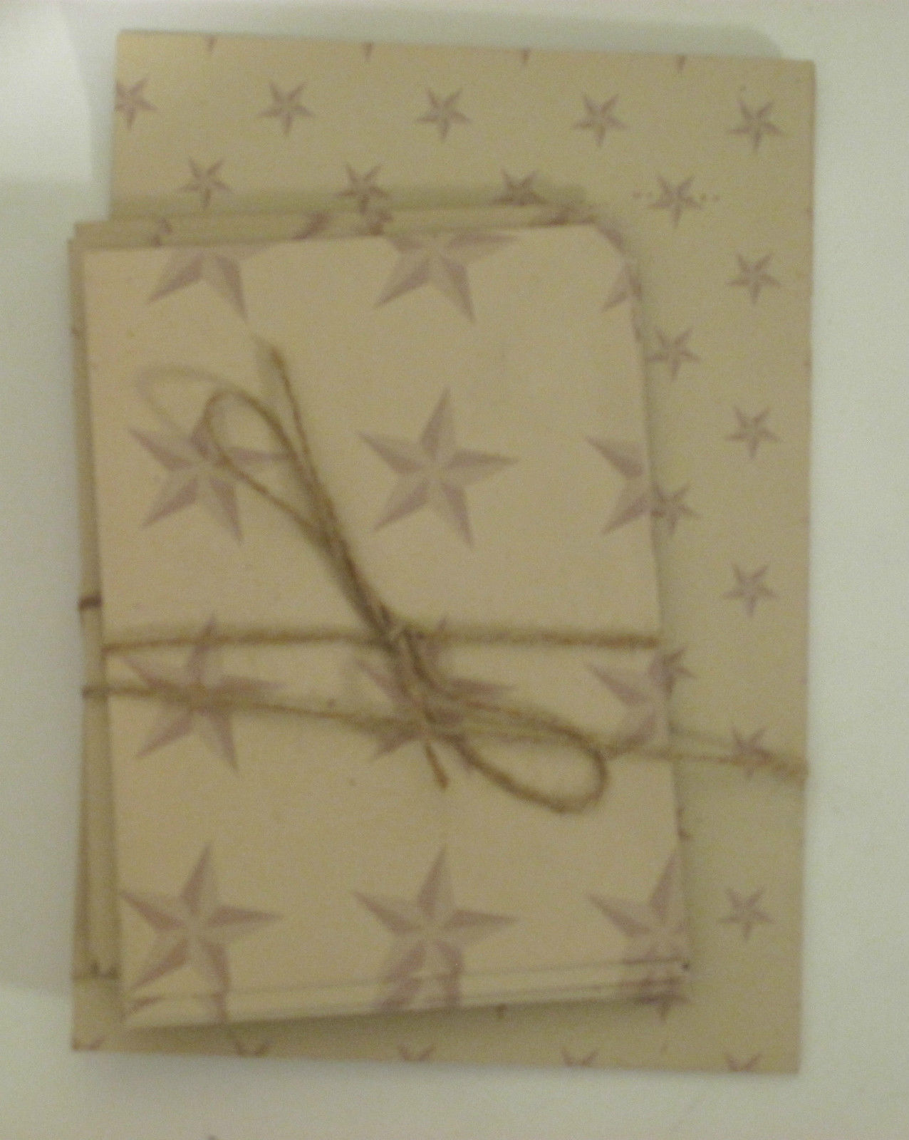 Primary image for Stars on Beige Sheets and Envelopes Vintage Stationery