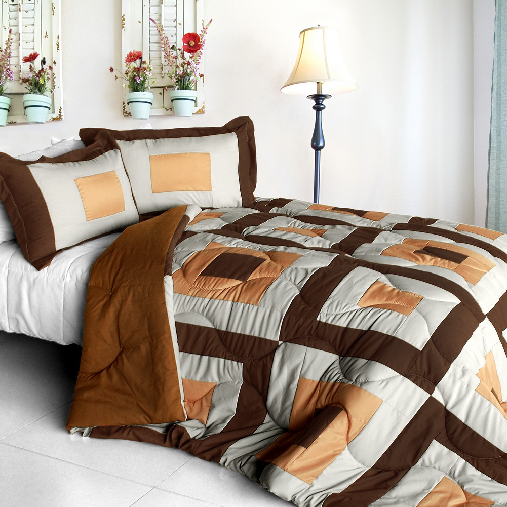 in my life b quilted patchwork down alternative comforter set full queen size comforters sets. Black Bedroom Furniture Sets. Home Design Ideas
