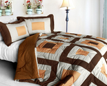 [In My Life B] Quilted Patchwork Down Alternative Comforter Set (Full/Queen Size
