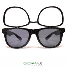 GloFX Flip Up Sunglasses + Diffraction – Black Legendary True-Flex PVC Frame New - $19.99