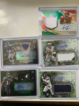 2014 bowman & topps football rookie autographed and game jersey pieces - $12.87