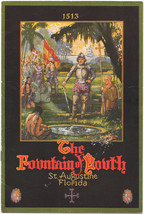 Beautifully Illustrated 1930's Brochure for The Fountain of Youth St. Au... - $17.81